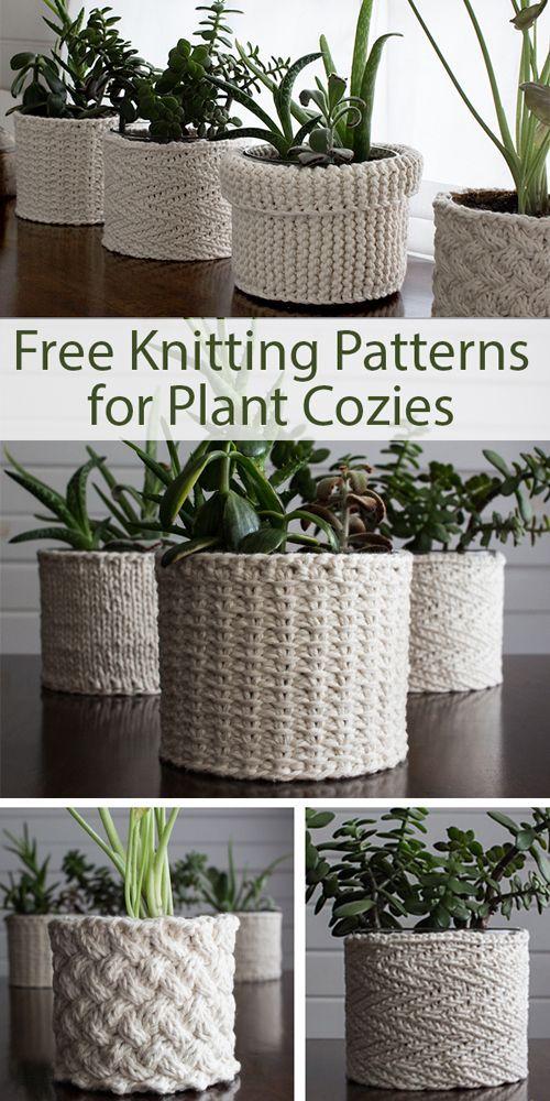 Plant Cozies - Free Knitting Patterns (Amazing Knitting) - Love Crochet #knittingideas