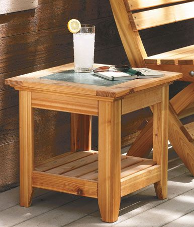 Tile Top Outdoor Table Woodsmith Plans