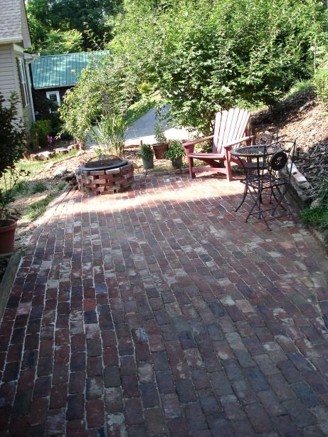 Laying A Reclaimed Brick Patio Antique Brick Patio