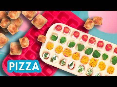 Des mini-pizza format glaçons ! | 5 recettes de pizza façon CHEFCLUB - YouTube #chefclubrecettevideos