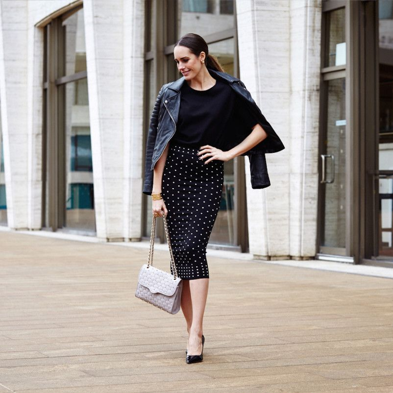 How To Wear Black by Louise Roe NYFW streetstyle