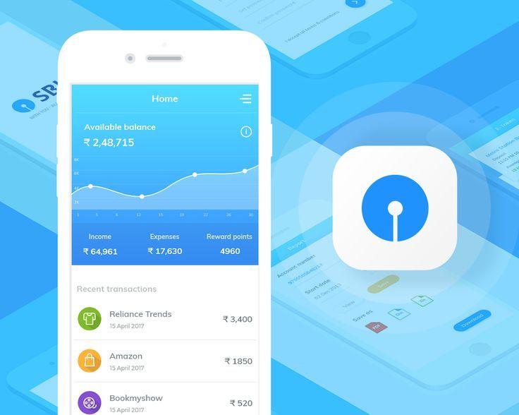 """Schauen Sie sich das folgende @Behance-Projekt an: """"SBI Banking App""""  / ... Schauen Sie sich das folgende @Behance-Projekt an: """"SBI Banking App""""  / ..."""