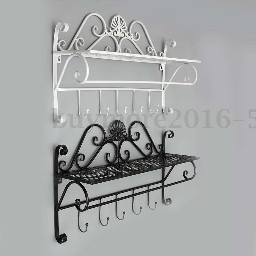 Shabby Chic Plate Rack Wall Mounted | Shabby Chic Metal Wall Mounted ...