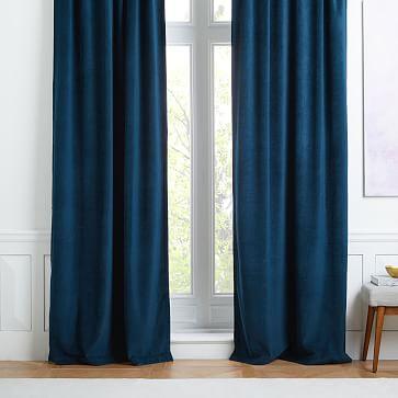 Textured Upholstery Velvet Curtain