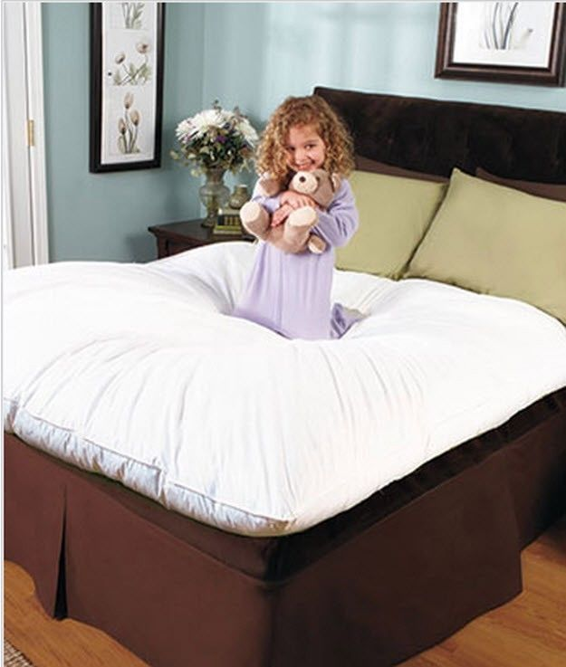 Mattress Pad Bed Topper Microfiber Fill Queen King Full