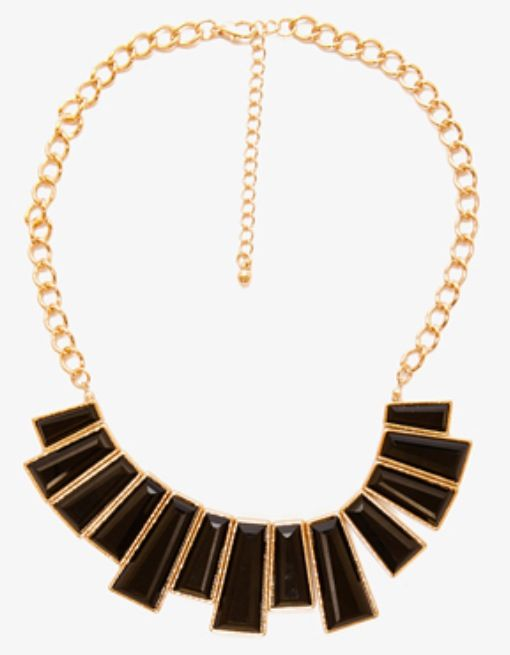 I also love the gold and black necklace I have! It goes with almost everything!