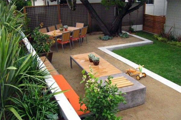 Etonnant Garden Design Ideas Vorgarten Design Modern Lawn Stone Floor Garden  Furniture