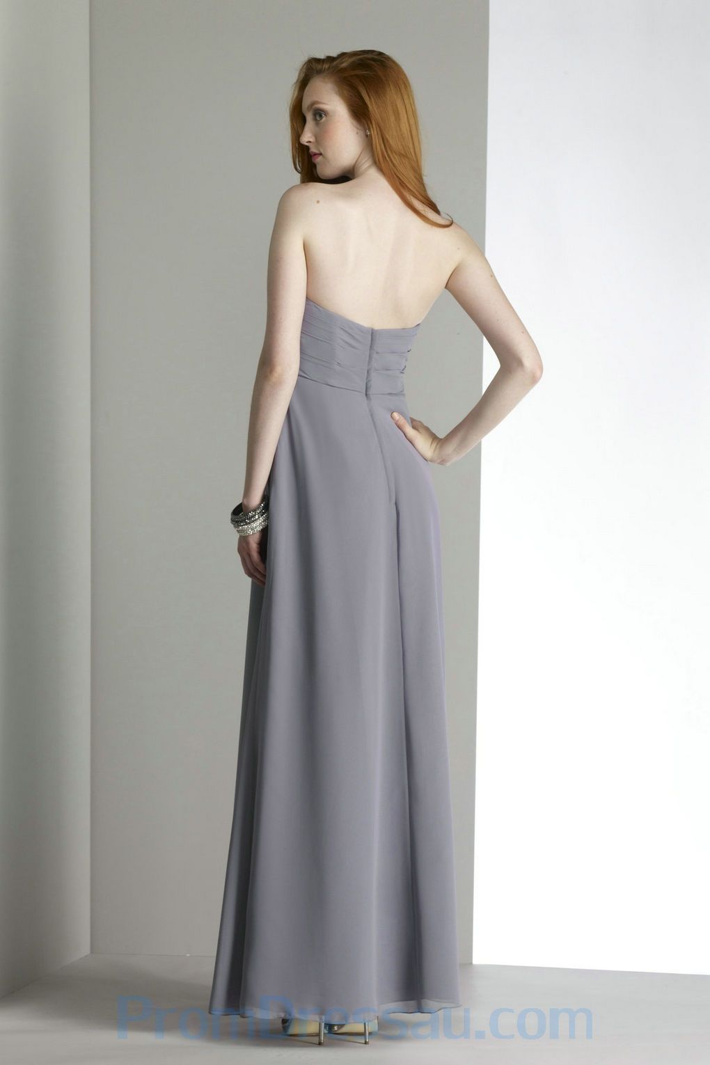 Gray dresses beading sweetheart chiffon grey great allure