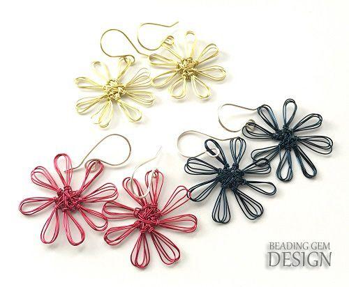 How To Make Wire Flower Earrings Using A Mini Flower Loom