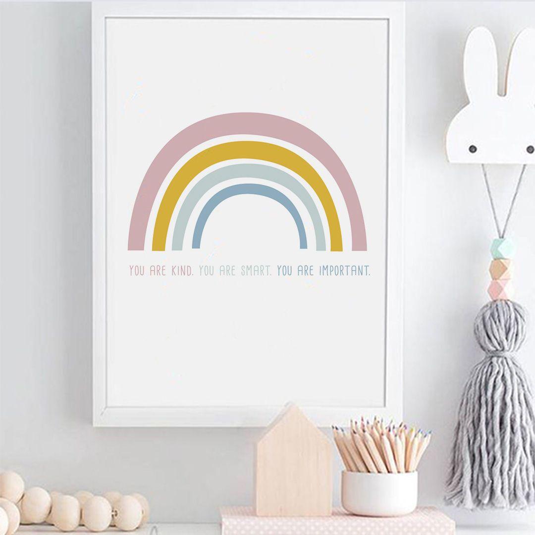 Free Rainbow Art Print Art Wall Kids Rainbow Wall Art