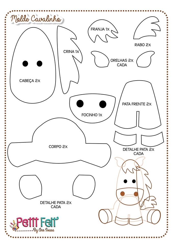 Amado Bichinhos da fazenda com molde | Felting, Craft and Patterns AD53