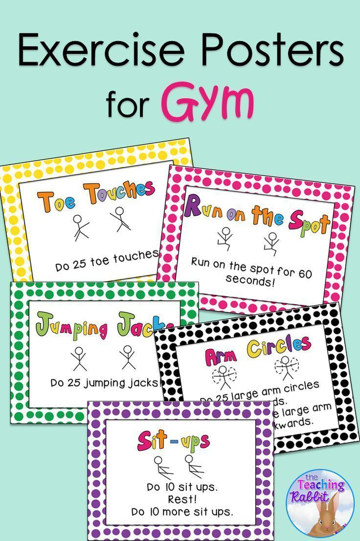 gym exercise posters pe classroom classroom lessons curriculum