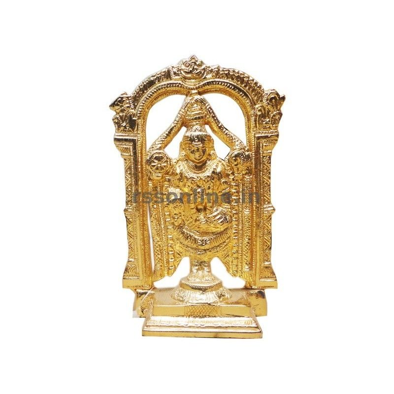 Lord Perumal Gold Coating Idol For Temple Puja Article
