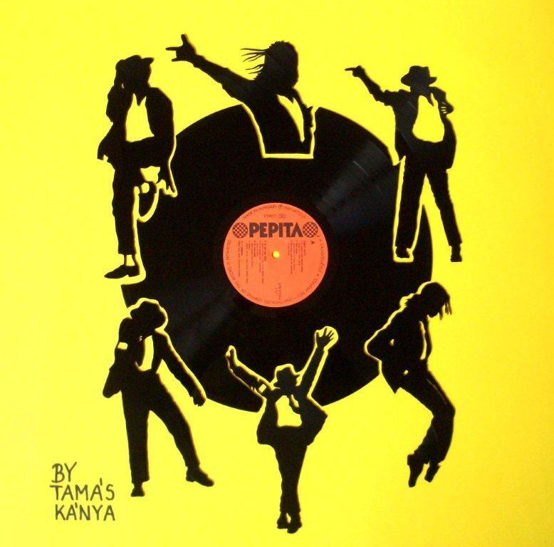 michael jackson vinyl records art in hungary by tamas kanya | Vinyl ...