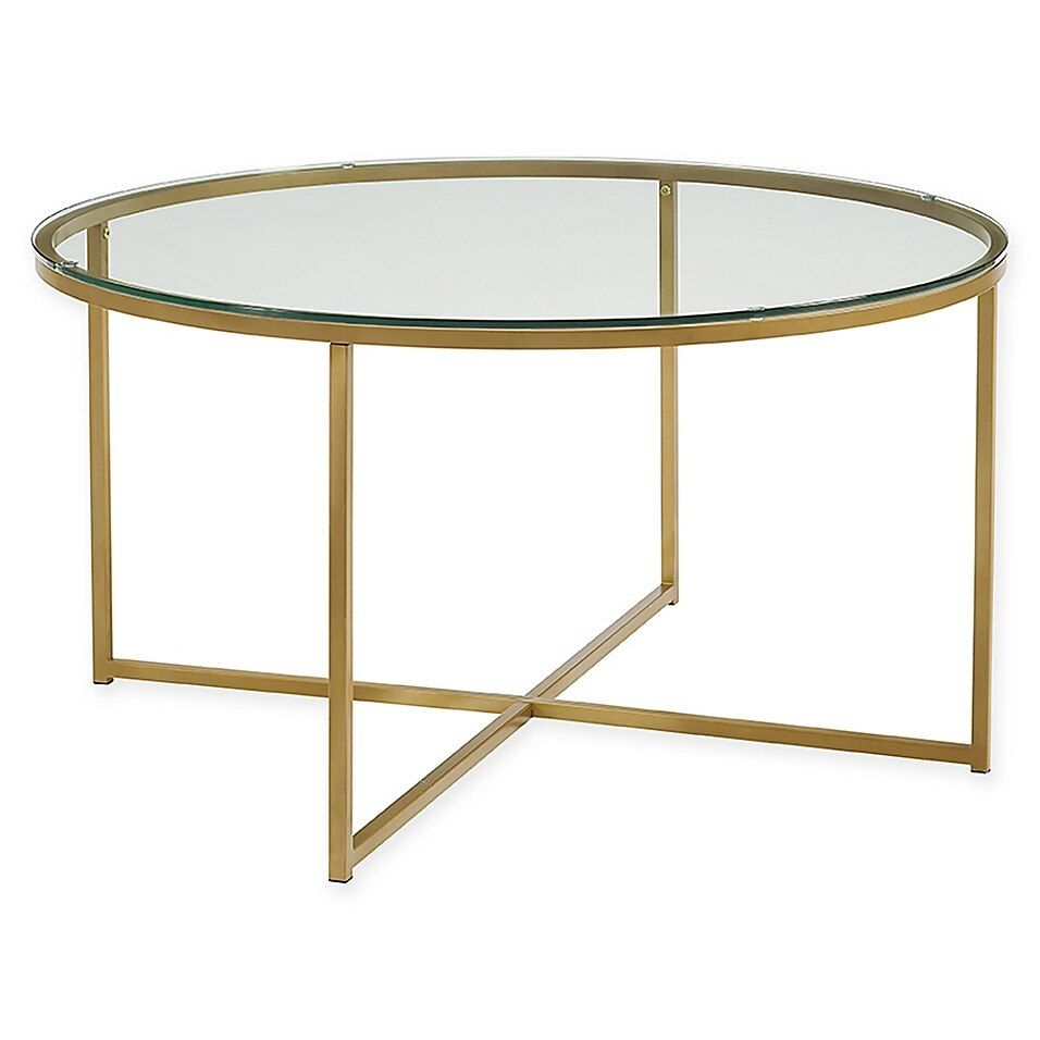 Forest Gate 36 Connie Modern Glam Coffee Table In Glass Round Glass Coffee Table Coffee Table Modern Glass Coffee Table [ 956 x 956 Pixel ]