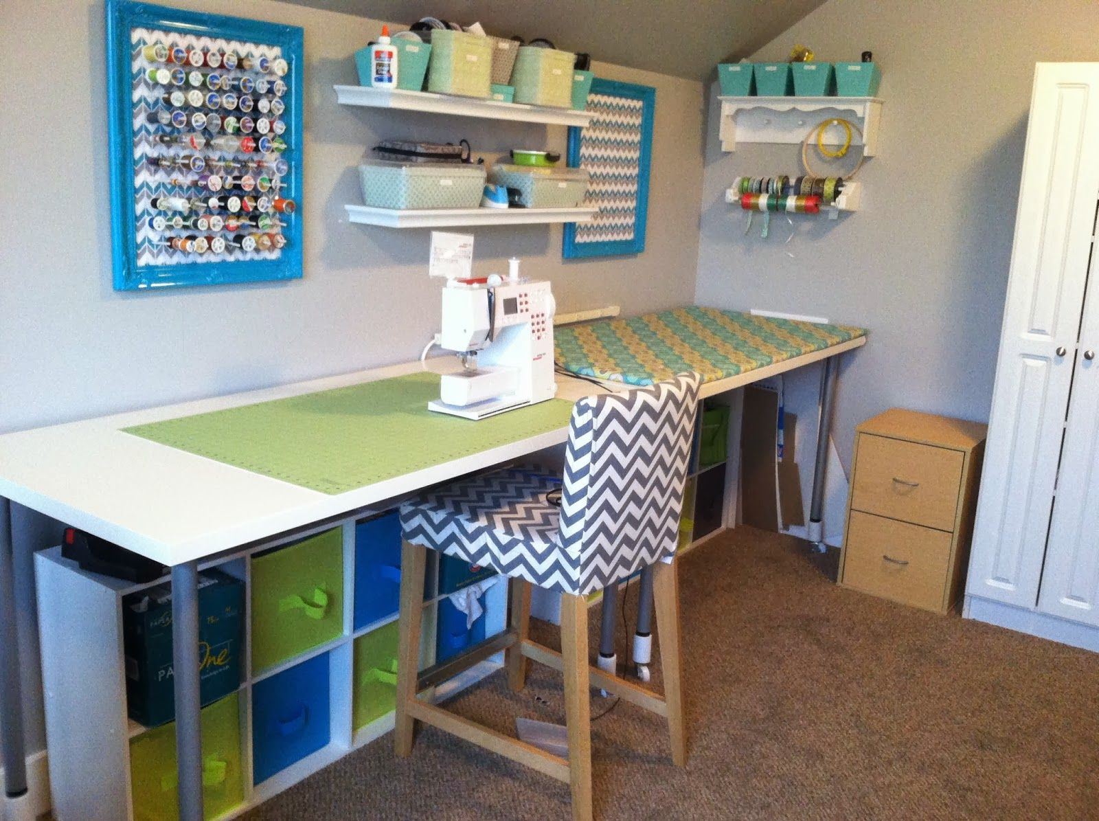 Sewing room office organization carol pinterest knutselen