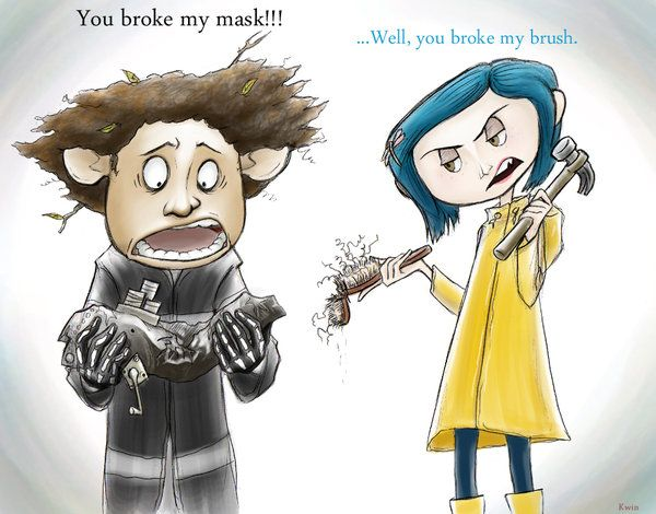 Break Your Face Coraline And Wybie Coraline Drawing Coraline