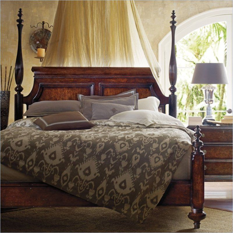 British Colonial Poster Bed In Caribe 020 63 42 Stanley Furniture