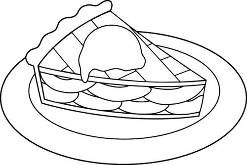 Coloring Pages Apple Pie : Slice apple pie coloring page cookie pinterest