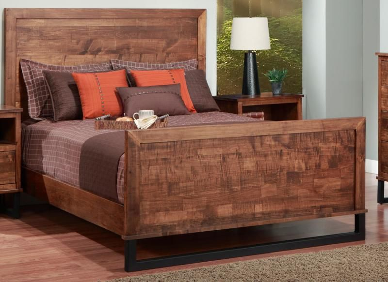 Cumberland Queen Bed With Wood Headboard High Footboard King