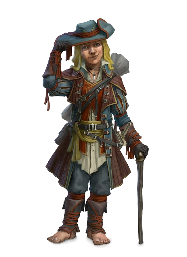 Male Halfling Bard or Rogue - Pathfinder PFRPG DND D&D 3 5 5th ed