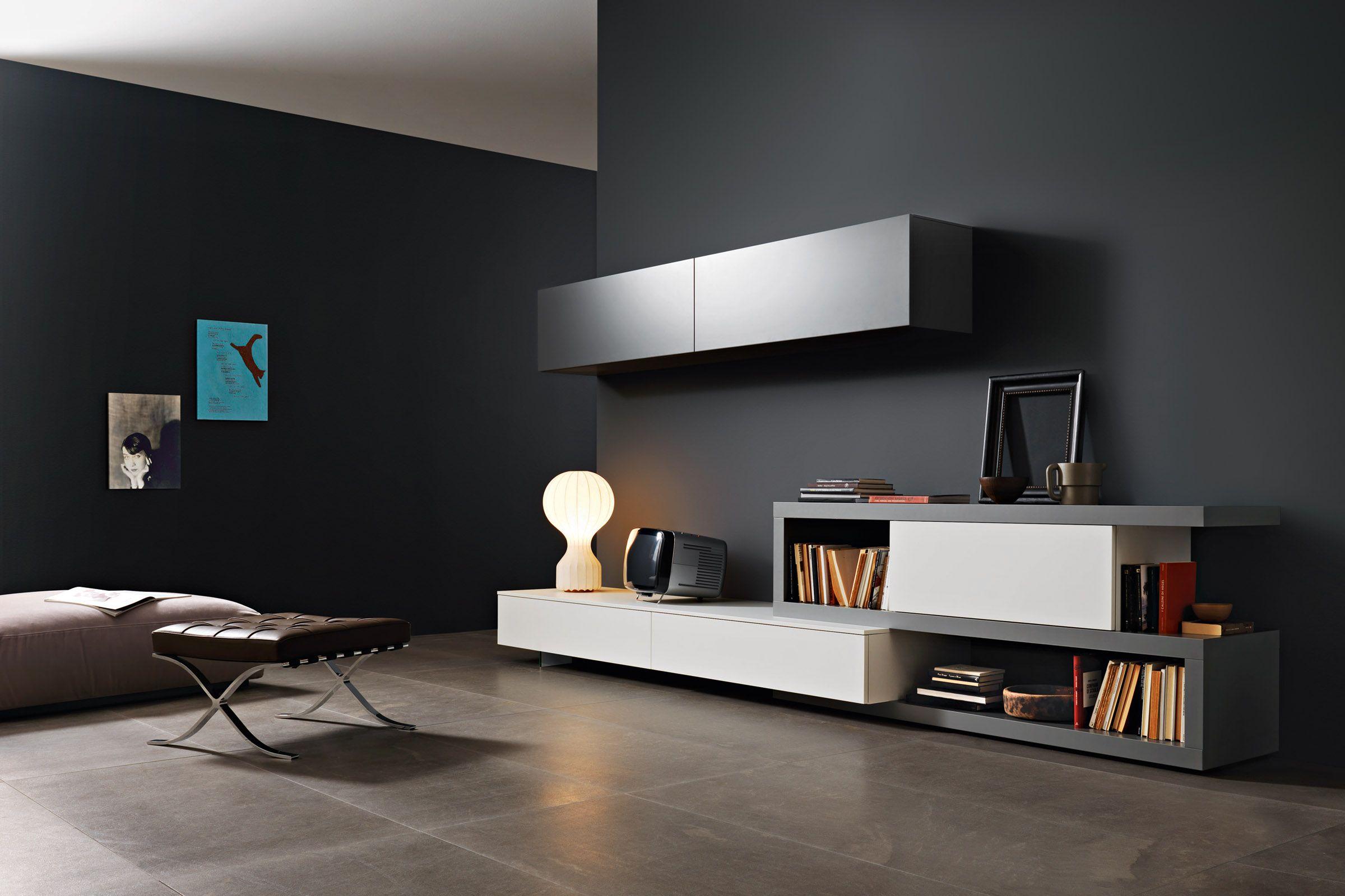 mobili per soggiorno moderno milano - Cerca con Google | mobili tv ...