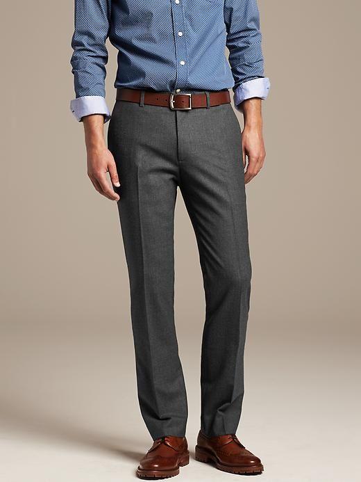 ea283481ac Banana Republic | Tailored Slim-Fit Flannel Dress Pant | Mens ...