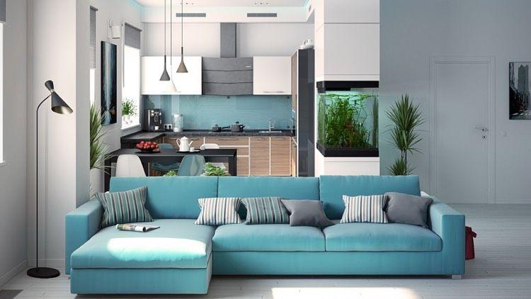 45+ Grau weiss tuerkis wohnzimmer 2021 ideen