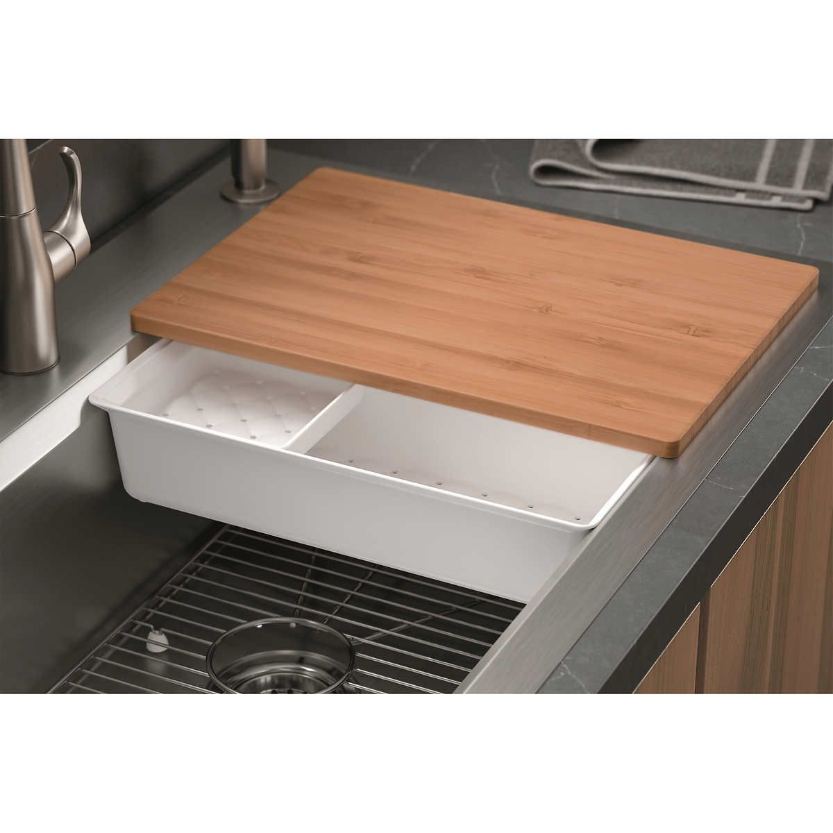 Kohler Cater Accessorized Kitchen Sink Stainless Steel Cleaning Stainless Steel Sinks Sink