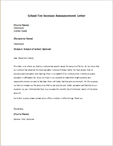 School fee increase announcement letter download at http school fee increase announcement letter download at httpwriteletter2school altavistaventures Images