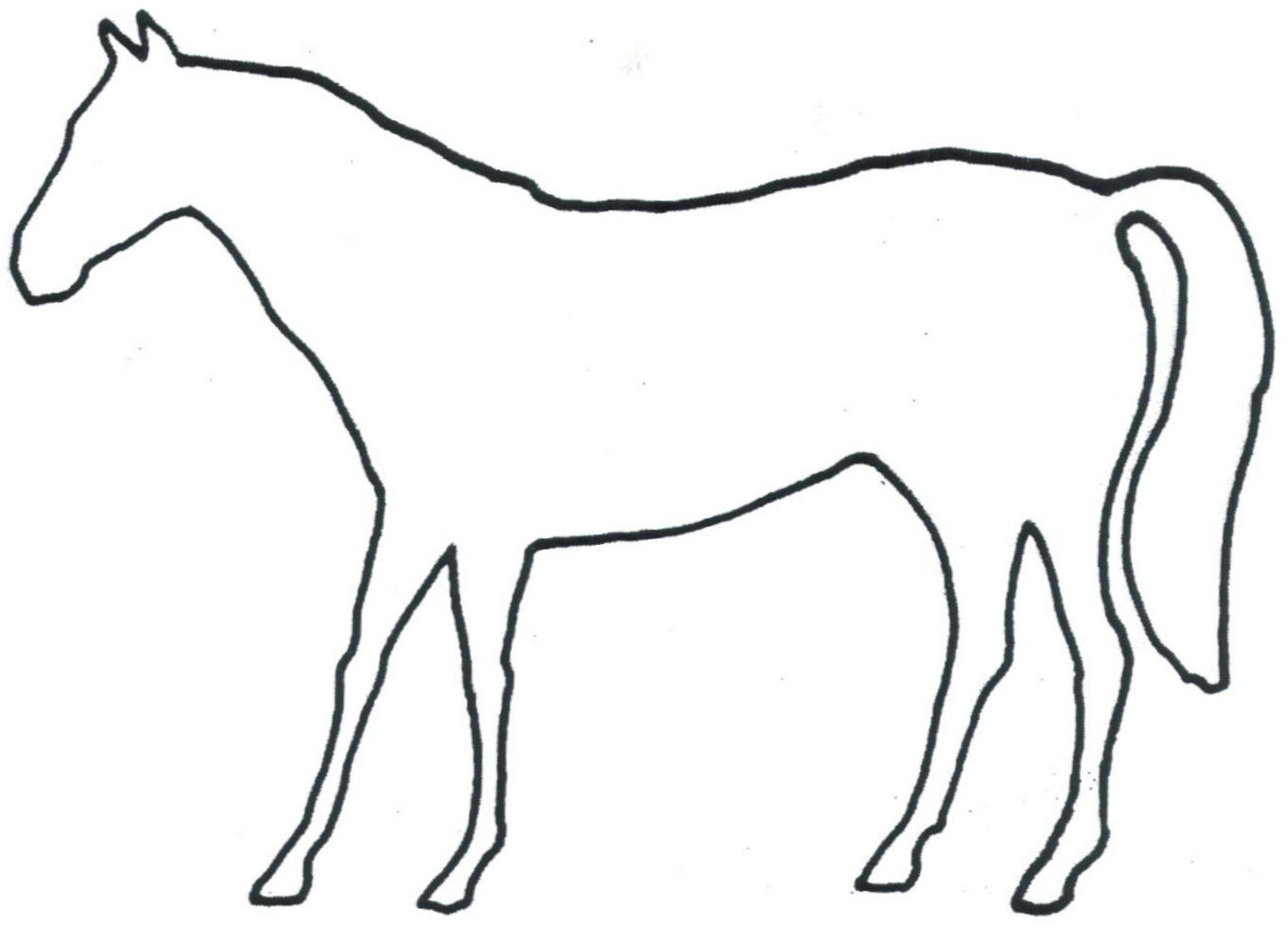graphic regarding Horse Template Printable identified as Tattoos For \u003e Horse Determine Tattoo Things in the direction of persuade