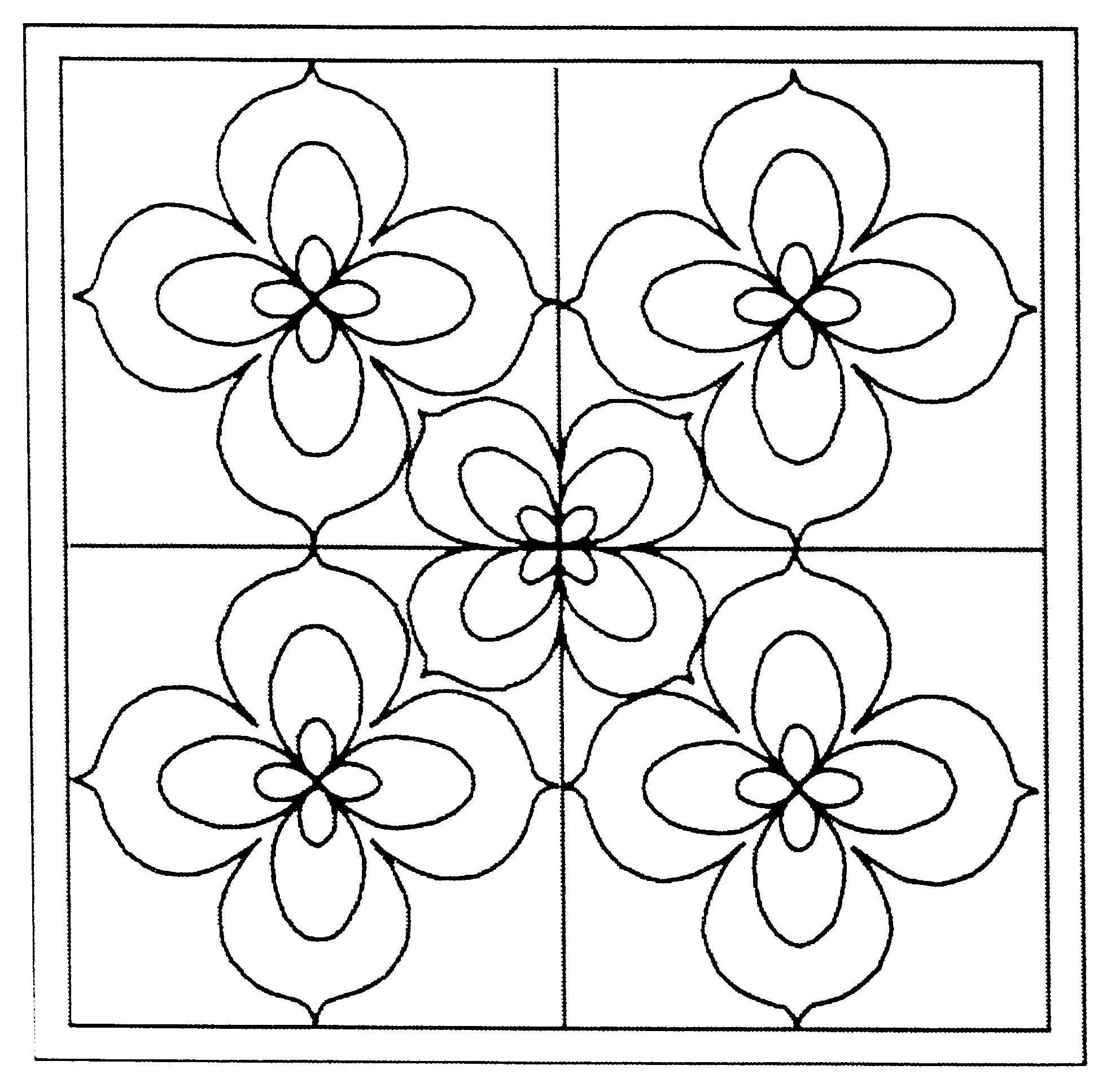 Coloriage du vitrail avec les fleurs de Lys | Sequence | Pinterest ...