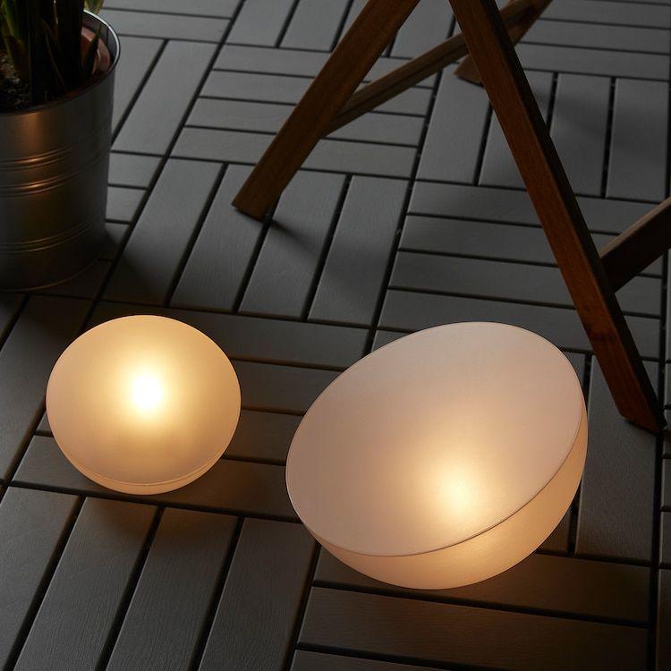 Solvinden Led Solar Powered Light Outdoor Half Globe White 11