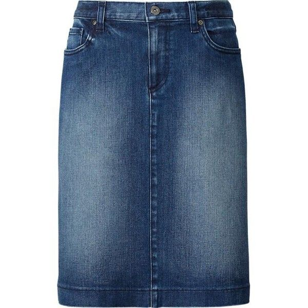 WOMEN Denim Skirt ($34) ❤ liked on Polyvore featuring skirts ...