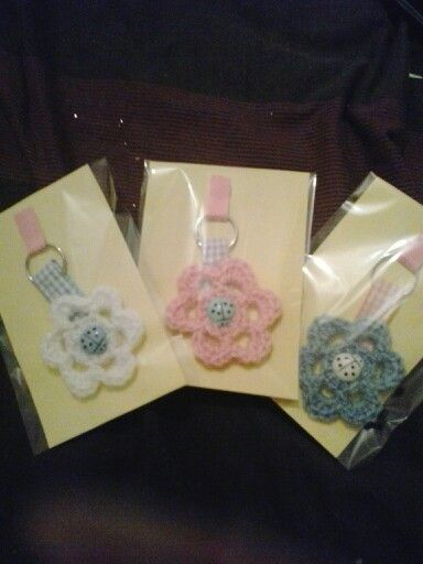 Crocheted keyrings
