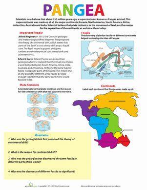 Plate Tectonics Activity 4th Grade