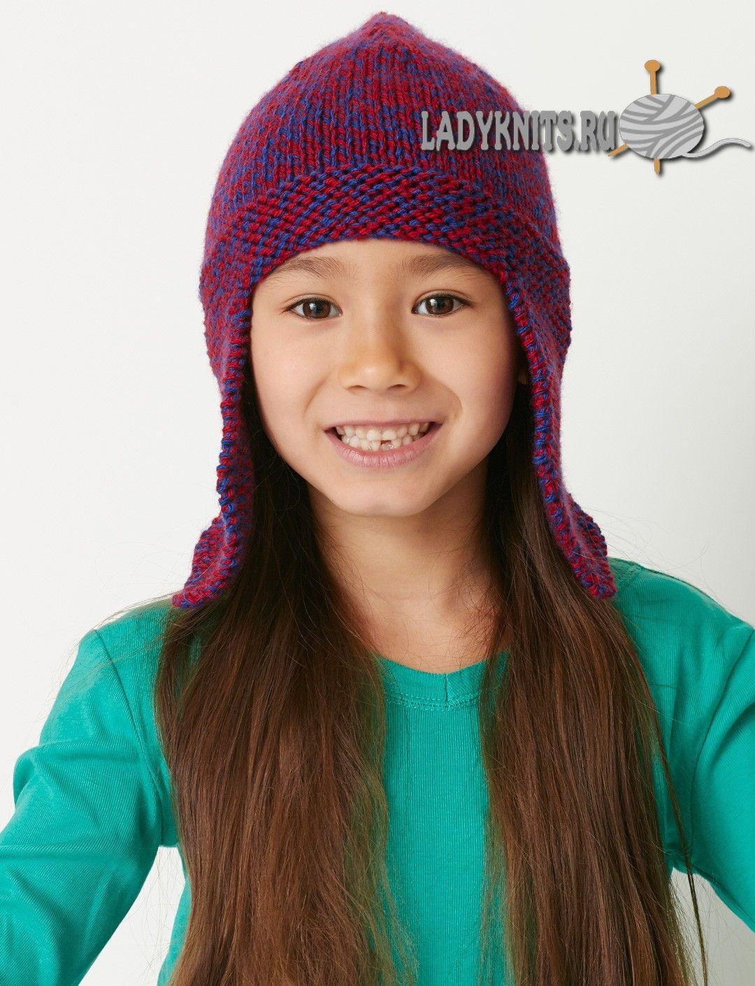 Детская шапка ушанка спицами схема фото 875