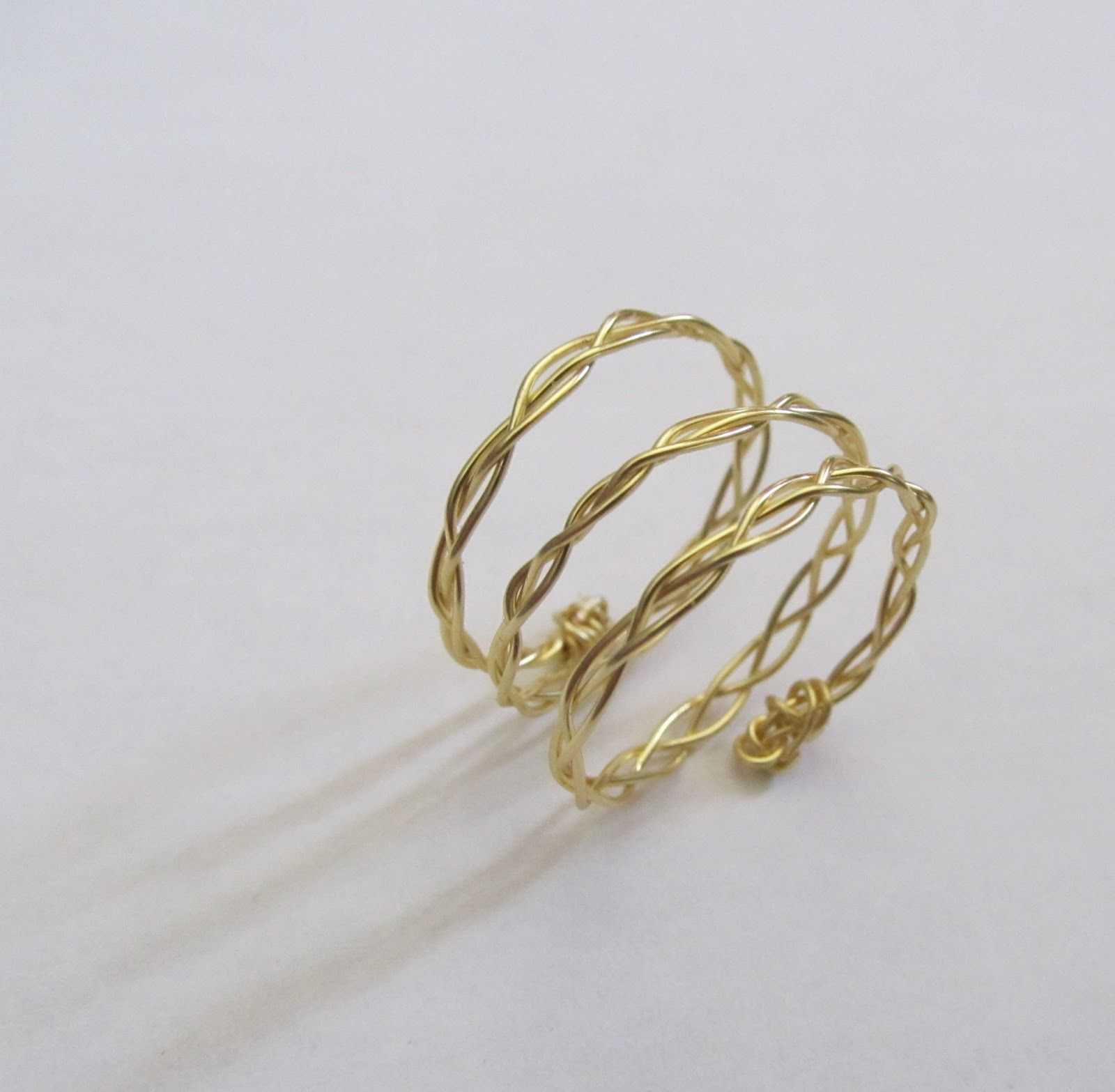 Braided Wire Rings, DIY | Tutorials and Craft