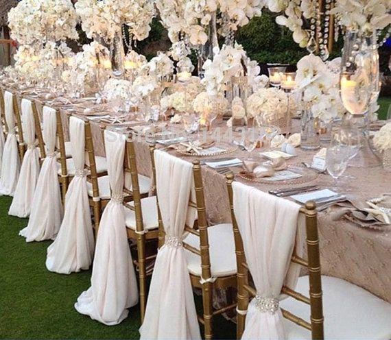 Wedding Chiffon Chair Sash Many Colors By Njmpartydecorandmore