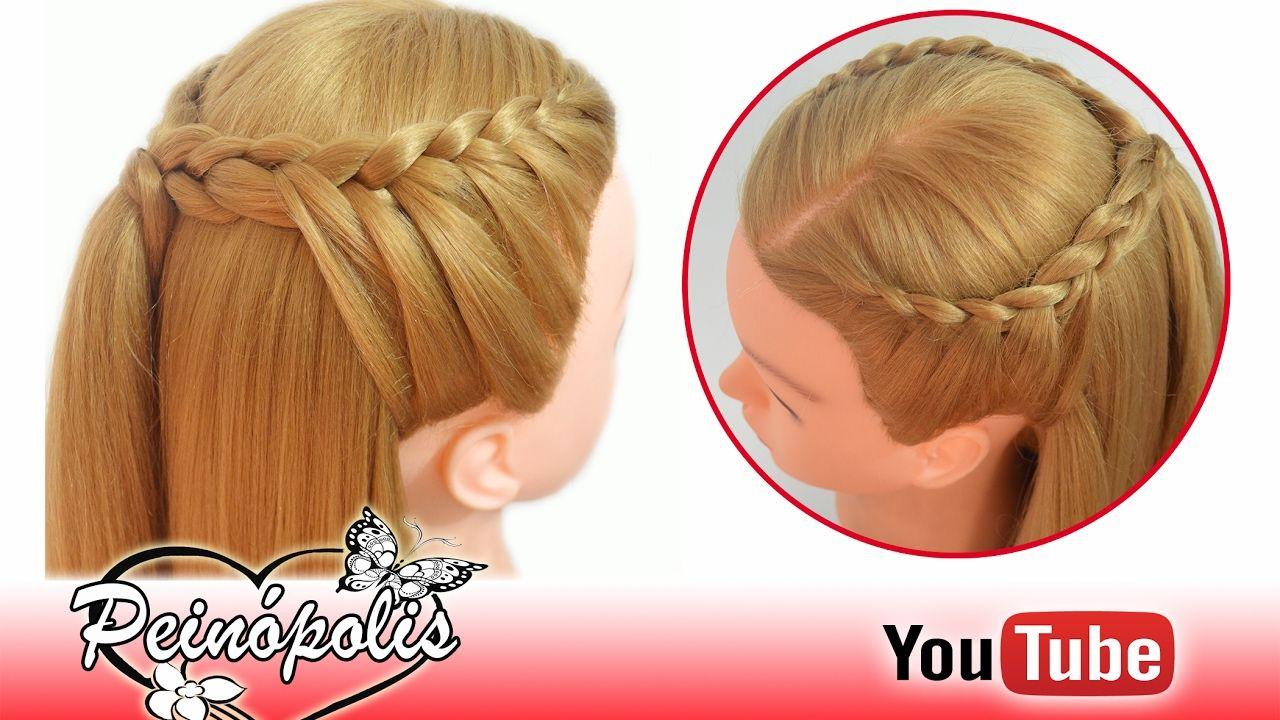 Peinados Fáciles Con Trenzas Para Cada Día Rápidos Y Bonitos Si Quieres Estar A L Peinados Con Cabello Suelto Peinados Niña Trenzas Peinado Trenza Diadema
