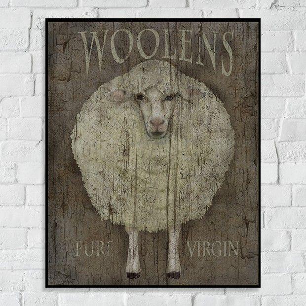 Woolens Sheep Canvas Ar