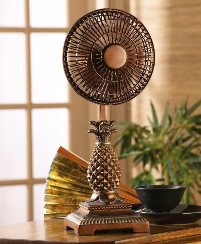 Unique Home Furnishings: Tropical Home Decor Unique Tropical Pineapple Table Fan
