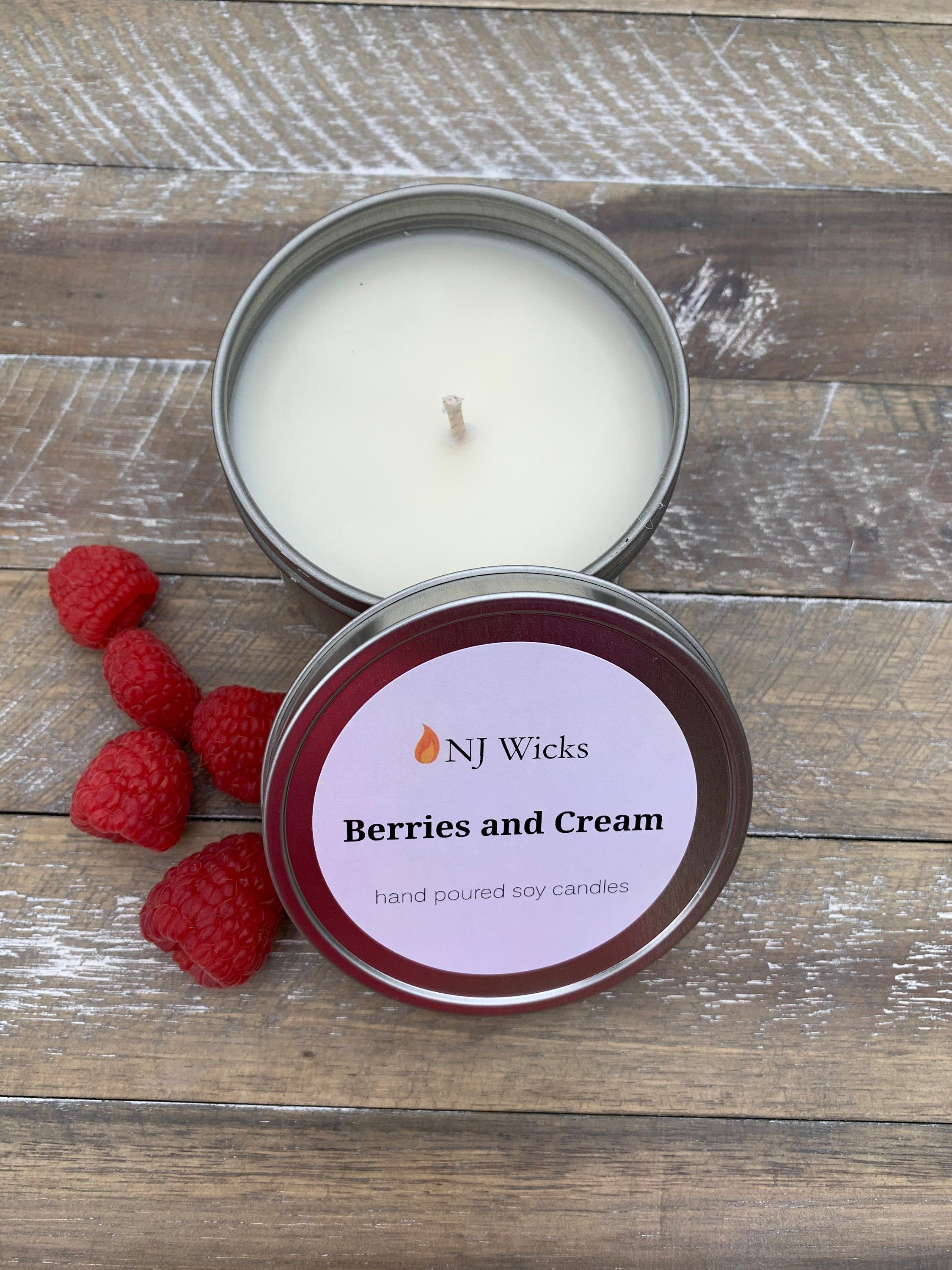 Raspberries and Cream Soy Candle