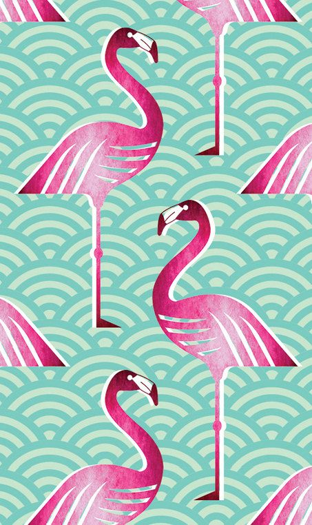 Fond D Ecran Personnalise Flamant Rose Par Handmadebymeshop Sur Etsy Flamingo Wallpaper Flamingo Fabric Pink Flamingo Wallpaper