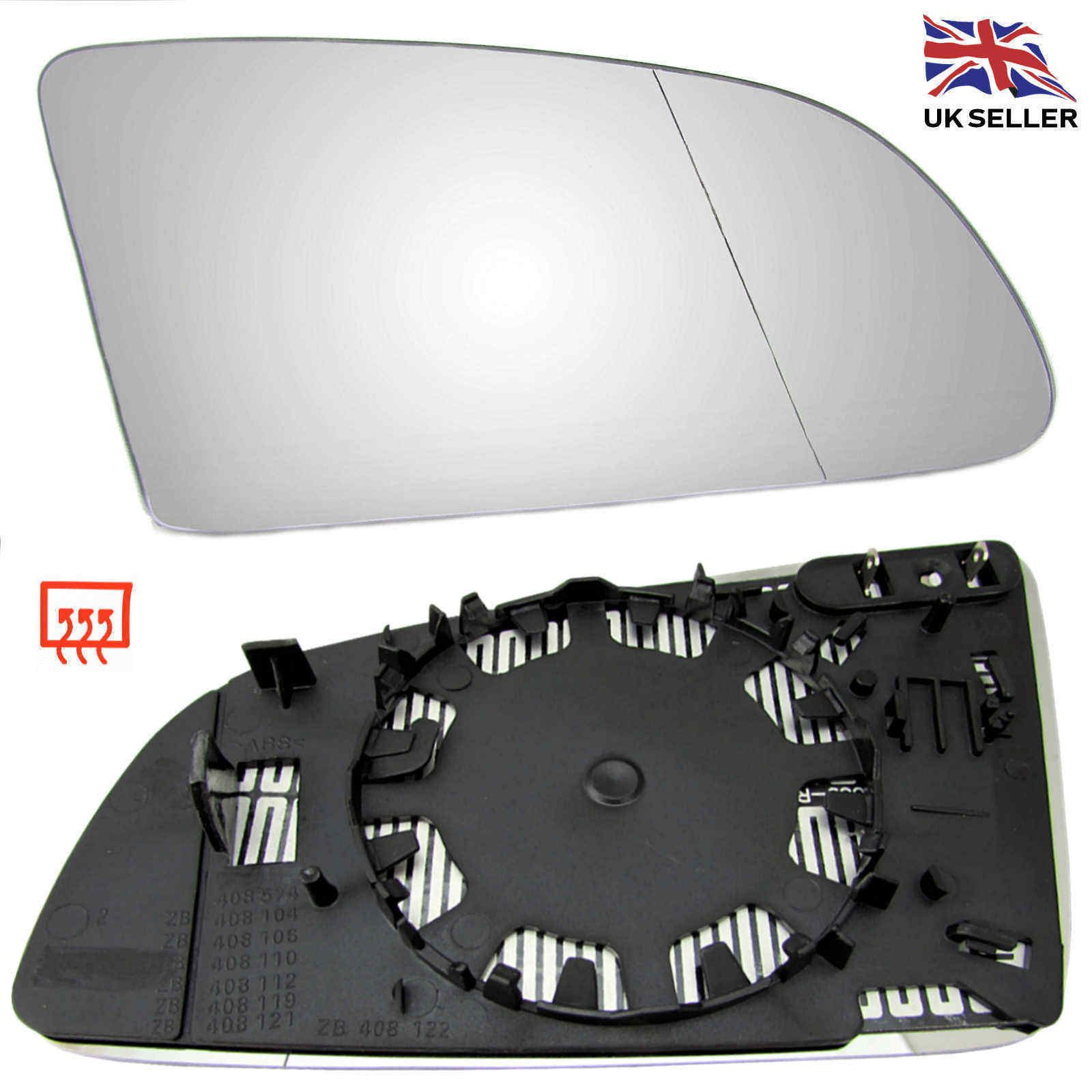 Left side for Audi A3 2004-2008 Wide Angle heated Blue wing door mirror glass