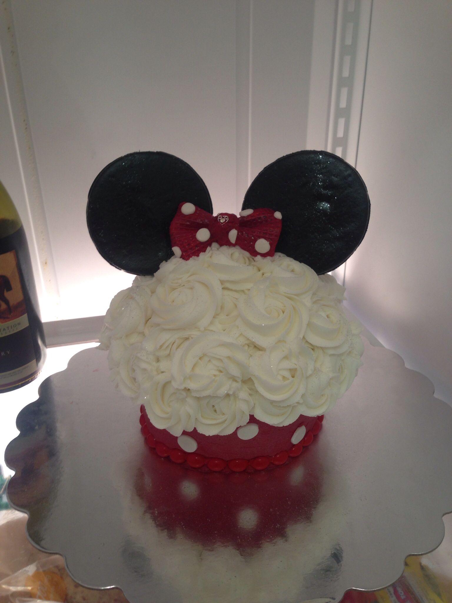 Minnie Mouse smash cake cakes Pinterest Smash cakes Minnie