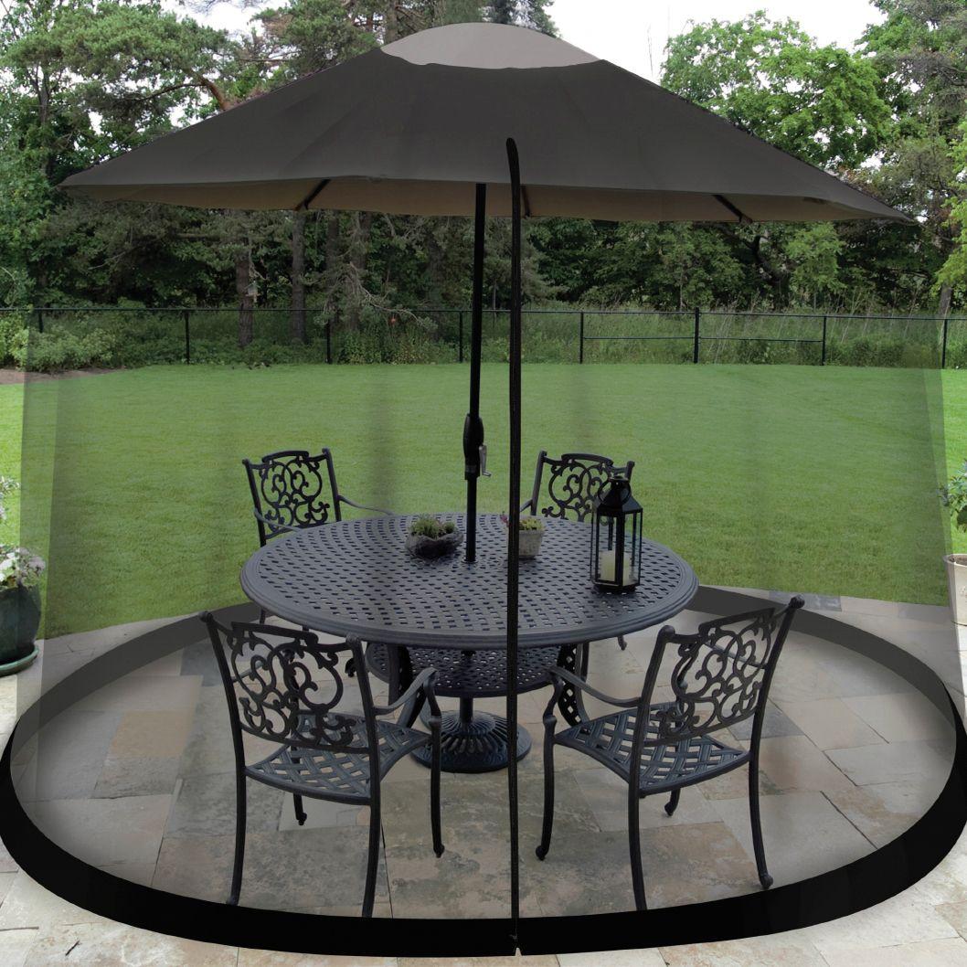 umbrella table enclosure screen patio furniture brylanehome