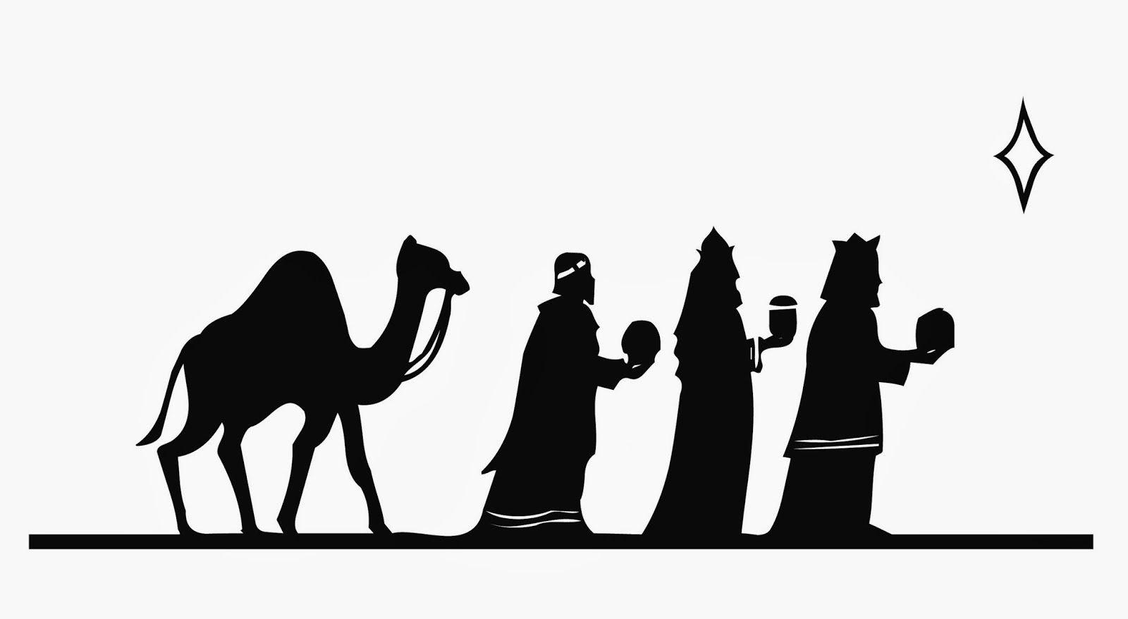 Silueta De Reyes Magos Para Pintar En Cojines O Manteles