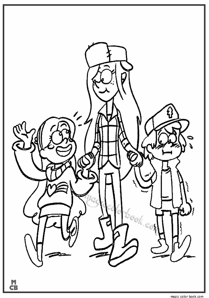 Free Coloring Pages Gravity Falls Coloring Pages