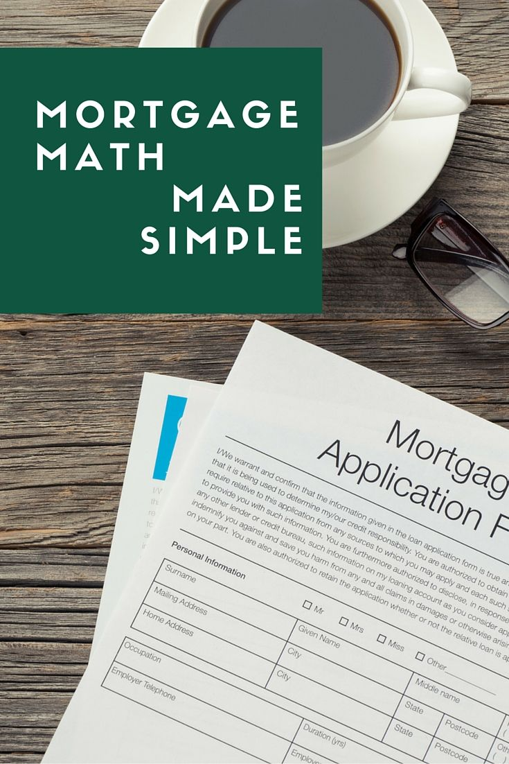 Mortgage Formula Cheat Sheet Home Loan Math Made Simple Understanding Mortgages Mortgage Top Mortgage Lenders